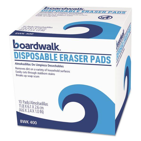 Boardwalk Disposable Eraser Pads, 10/Box