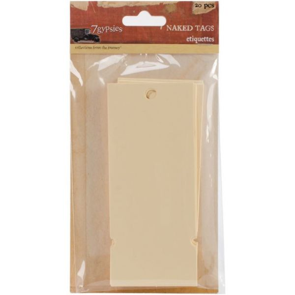 "Naked Tags 2""X4.75"" 20/Pkg"