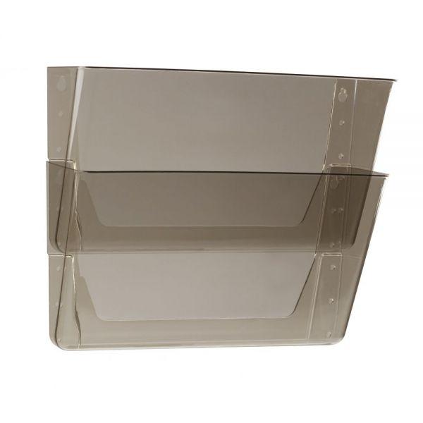 Storex Storex Wall Files, 6-Pack, Letter, Smoke (Case of 4)