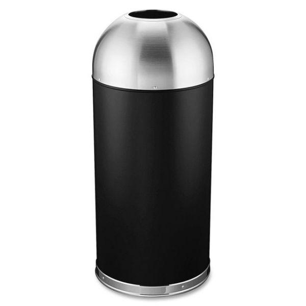 Genuine Joe Domed Open-Top 15 Gallon Trash Can