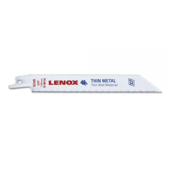 "LENOX 624R Bi-Metal Recip Blade, 6"" x 3/4"" x .035, 24TPI"