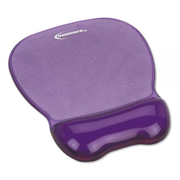 Innovera Gel Mouse Pad w/Wrist Rest, Nonskid Base, 8-1/4 x 9-5/8, Purple