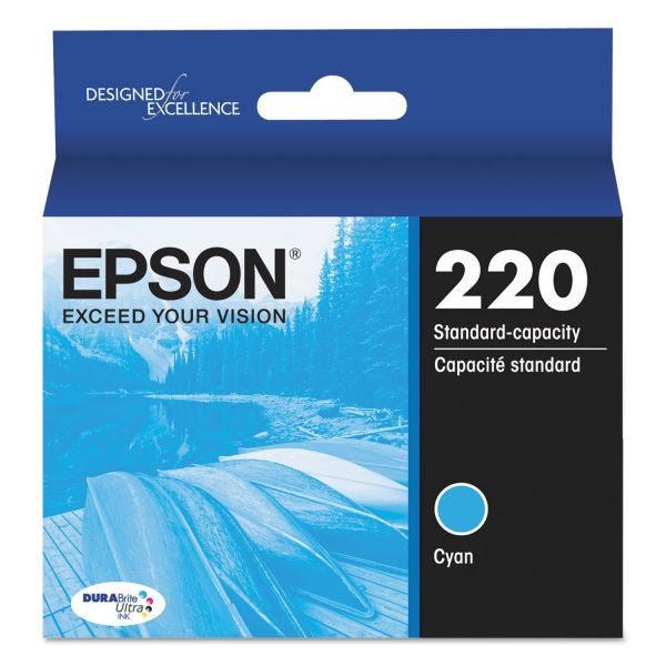 Epson 220 DURABrite Ultra Cyan Ink Cartridge (T220220)