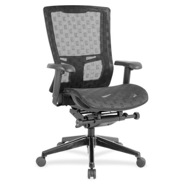 Lorell Checkerboard Design High-Back Mesh Office Chair