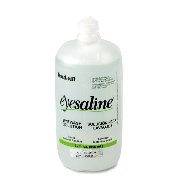 Eyesaline Eye Wash Bottle Refill, 32-oz. Bottle, 12/carton