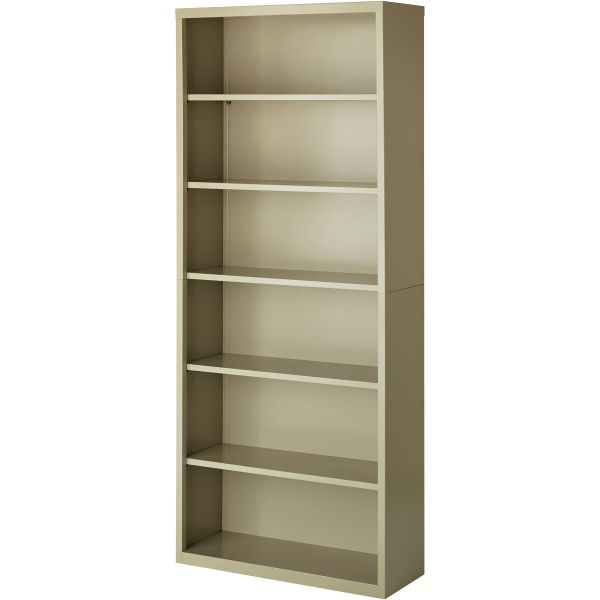 Lorell Fortress Series 6-Shelf Steel Bookcase