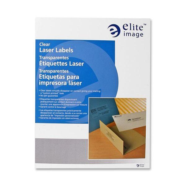Elite Image Clear Address Labels