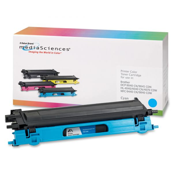 Media Sciences Remanufactured Brother TN115C Cyan Toner Cartridge
