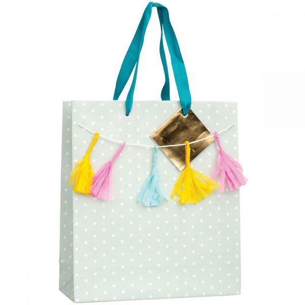 "Gift Bag W/Ribbon Handles & Gift Card 9.5""X9.5""X4"""