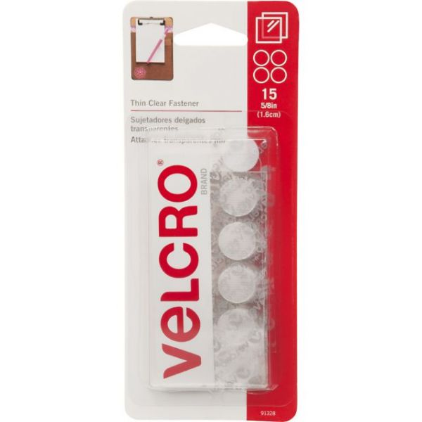 "VELCRO(R) Brand Thin Fasteners Coins 5/8"" 15/Pkg"