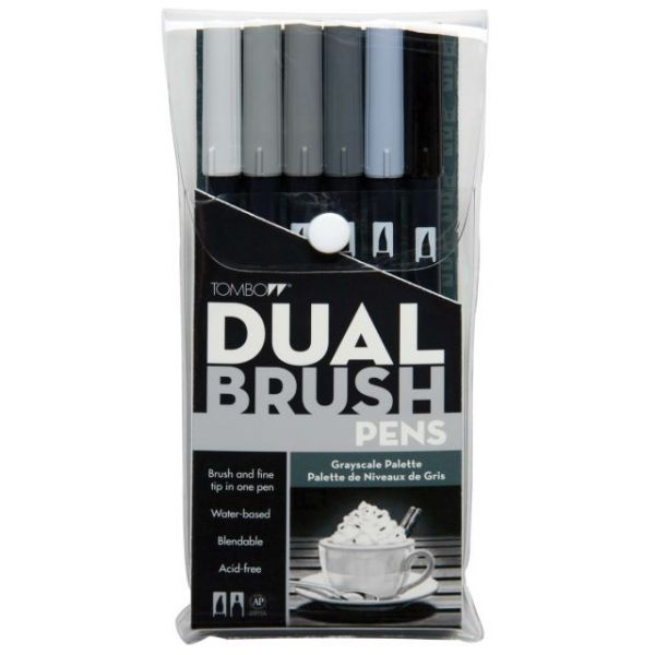 Tombow Dual Brush Markers 6/Pkg