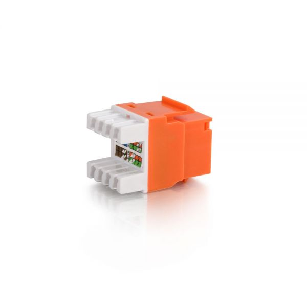 C2G Cat5E RJ45 UTP Keystone Jack - Orange