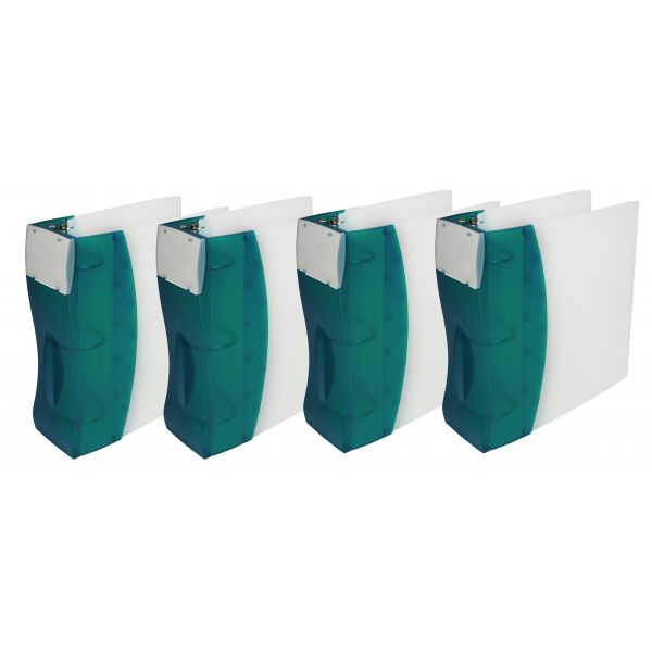 "Storex 2"" DuraTech Binder, Aqua (Case of 4)"
