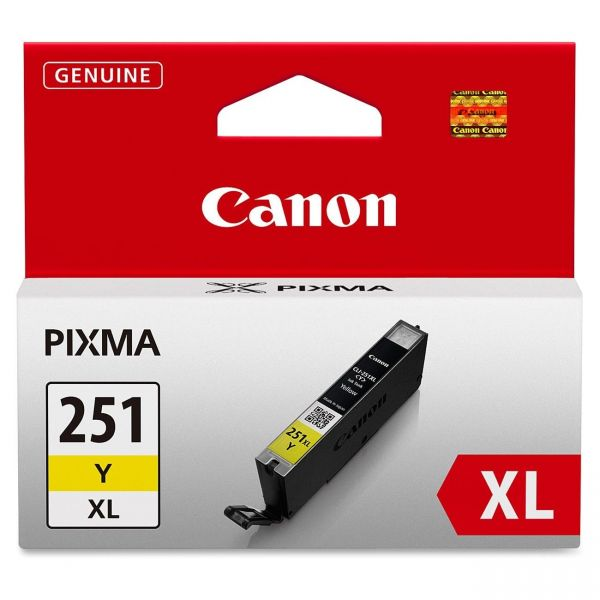 Canon CLI-251XLY Yellow High Yield Ink Cartridge (6451B001)