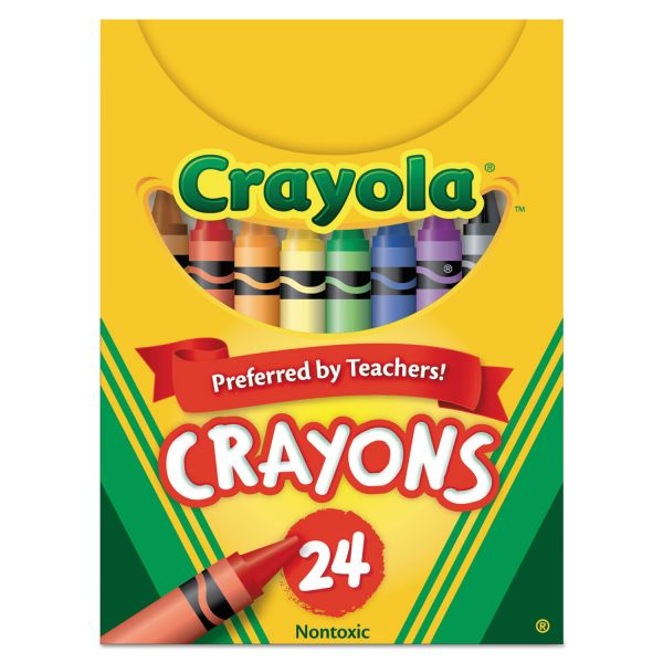 Crayola Classic Color Crayons, Tuck Box, 24 Colors