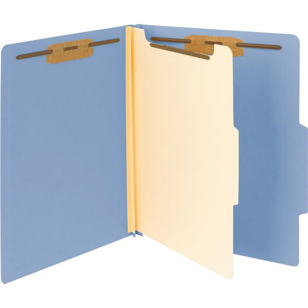 Smead Blue 1-Divider Classification Folders
