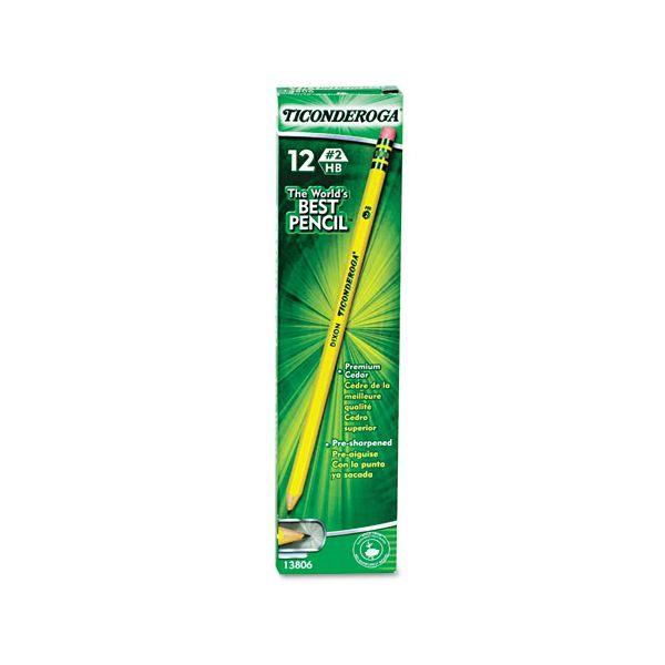 Ticonderoga Pre-Sharpened #2 Wood Pencils