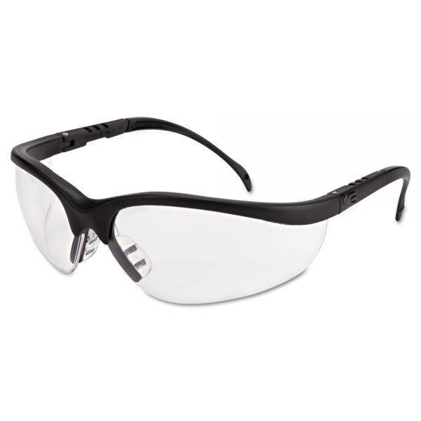 MCR Safety Klondike Safety Glasses, Matte Black Frame, Clear Lens