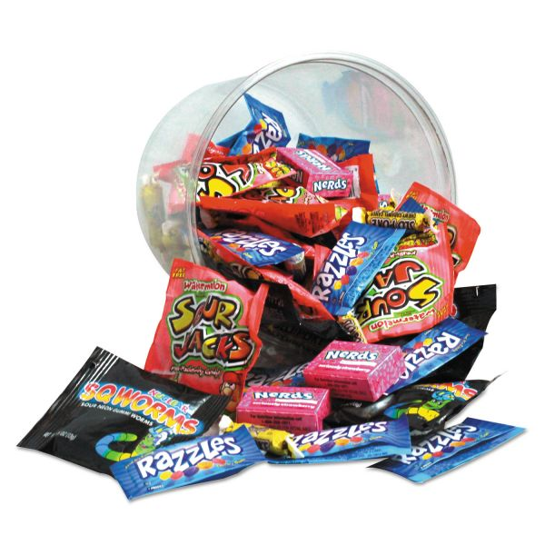 Office Snax Candy Tubs, Generations Mix, Individually Wrapped, 16 oz Resealable Plastic Tub