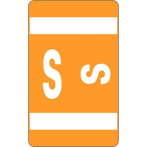 Smead AlphaZ ACCS Color-Coded Alphabetic Label - S