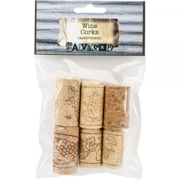 Salvaged Wine Corks 6/Pkg
