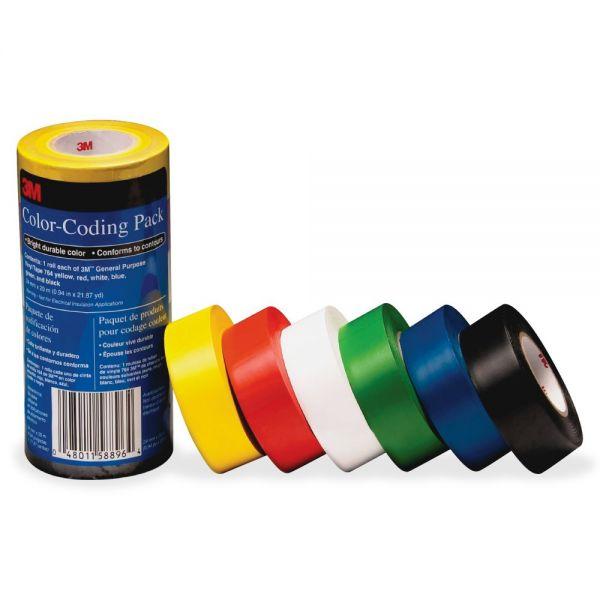 3M Vinyl Tape 764 Color-coding Pack