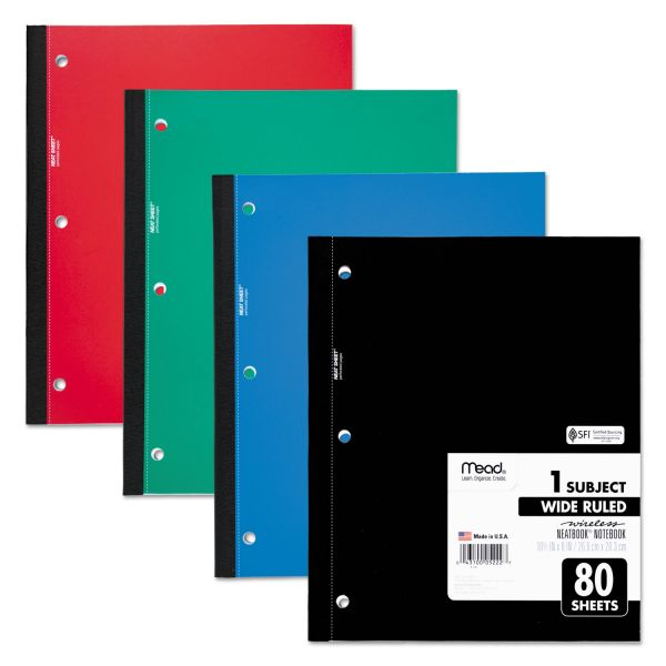 Mead Single Subject 3-Hole Notebook