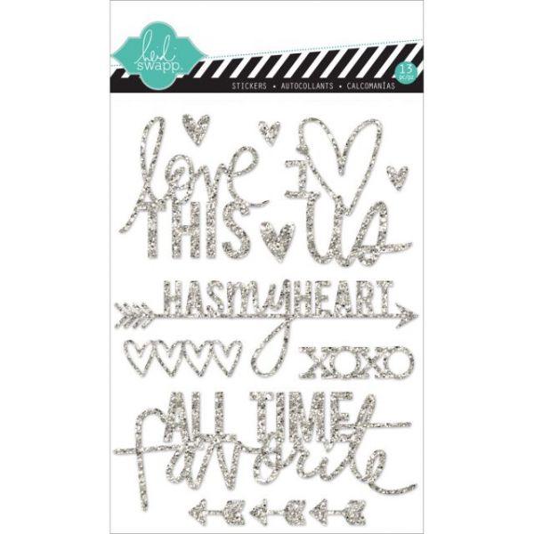 """Heidi Swapp Mixed Media Glitter Stickers 5""""X7"""""""