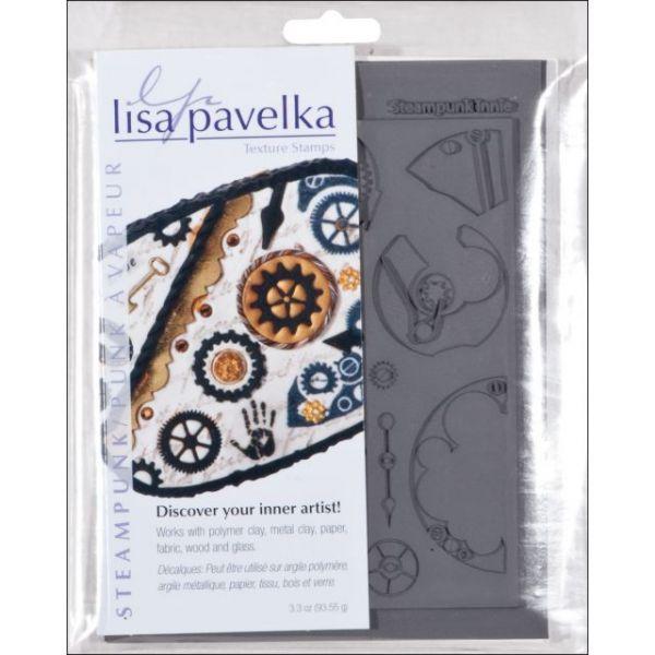 """Lisa Pavelka Texture Stamp Set 4.25""""X5.5"""" 2/Pkg"""
