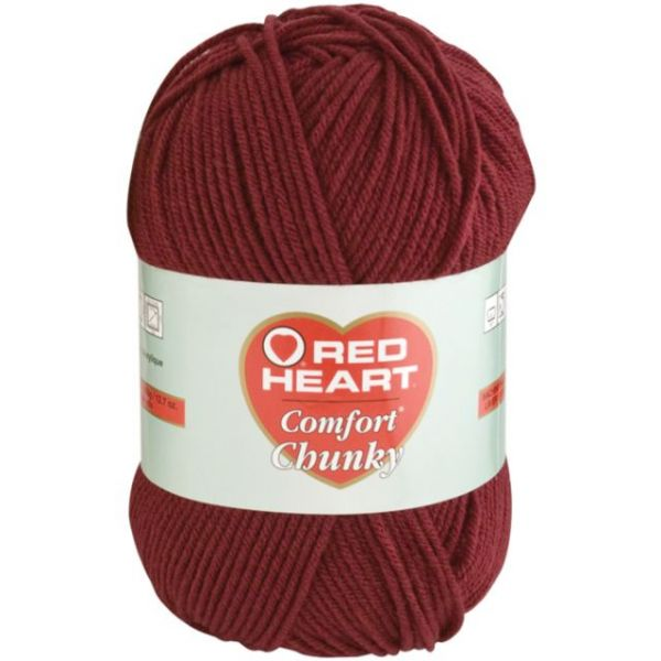Red Heart Comfort Chunky Yarn - Claret