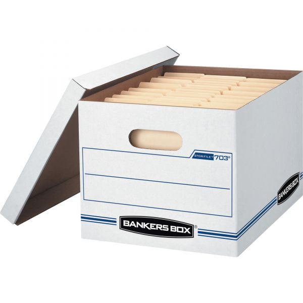 Bankers Box Light-Duty Storage Boxes With Lift-Off Lids