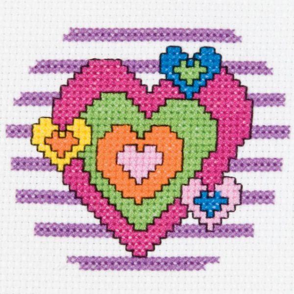 My 1st Stitch Heart Mini Counted Cross Stitch Kit