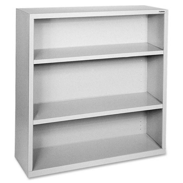 Lorell Fortress Series 3-Shelf Steel Bookcase