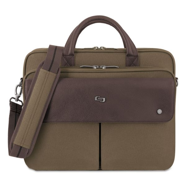 "Solo Executive Briefcase, 15.6"", 15 7/20"" x 7 12/25"" x 12"", Khaki"