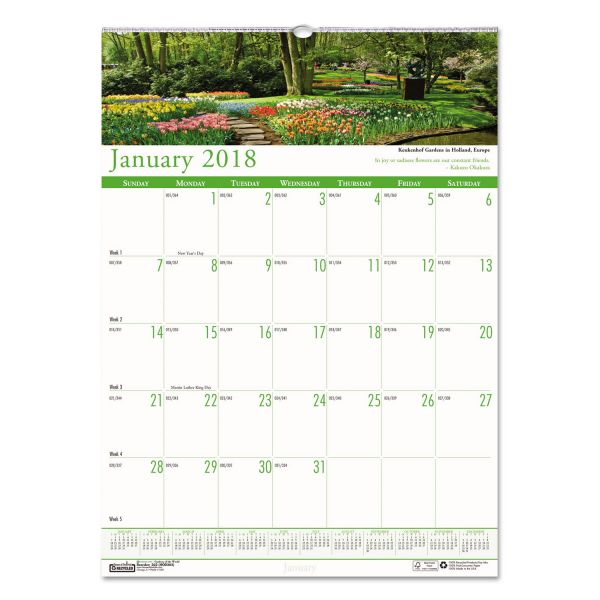 House of Doolittle Earthscapes Gardens of the World Monthly Wall Calendar