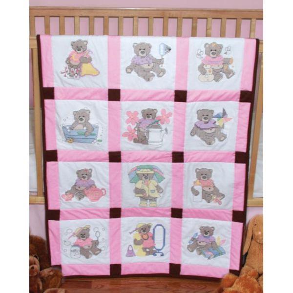 Fairway Stamped Baby Quilt Blocks