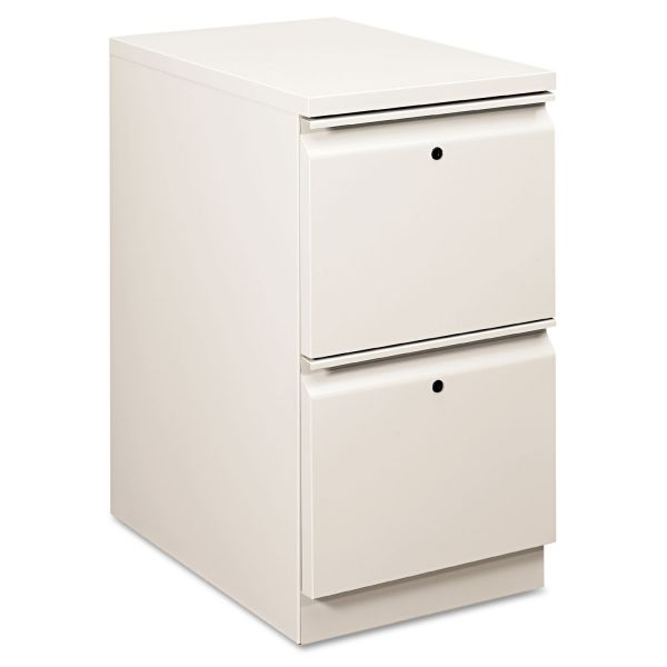 HON Flagship Mobile File/File Pedestal, Full Radius Pull, 22-7/8d, Light Gray