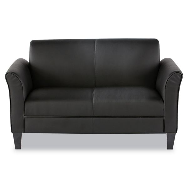 Alera Alera Reception Lounge Furniture, Loveseat, 55-1/2w x 31-1/2d x 32h, Black