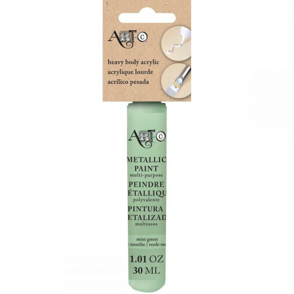 Art-C Heavy Body Pearl Mint Green Acrylic Paint