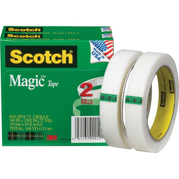 "Scotch 3/4"" Magic Invisible Tape Refills"