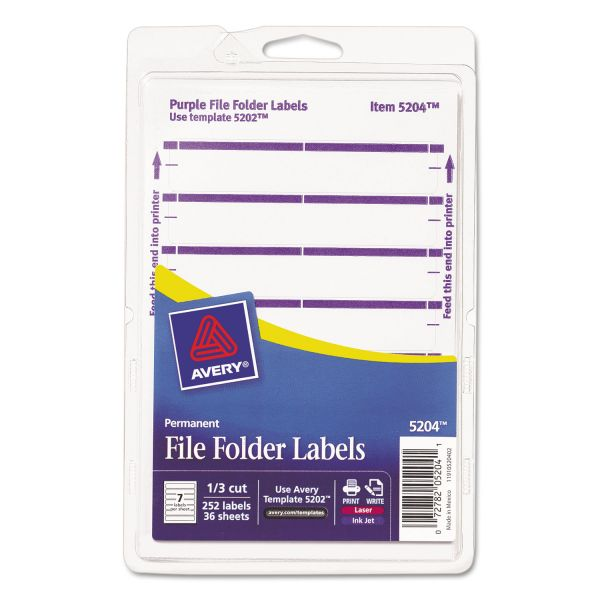 Avery Print Or Write Permanent File Folder Labels