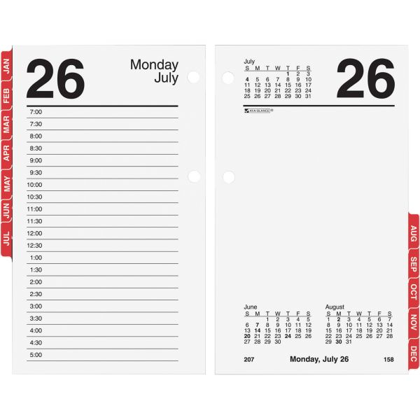 At-A-Glance Daily Desk Calendar Refill