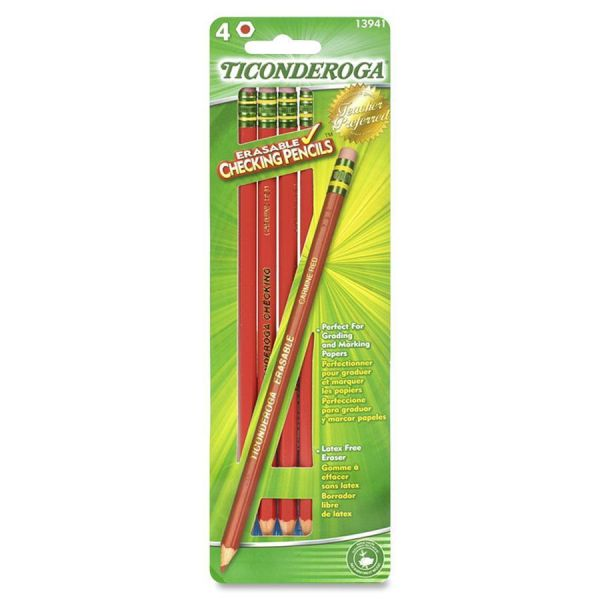 Ticonderoga Erasable Red Grading Pencil