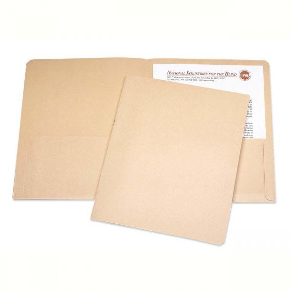 Skilcraft Tan Two Pocket Folders
