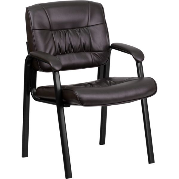 Flash Furniture Brown Leather Guest Chair