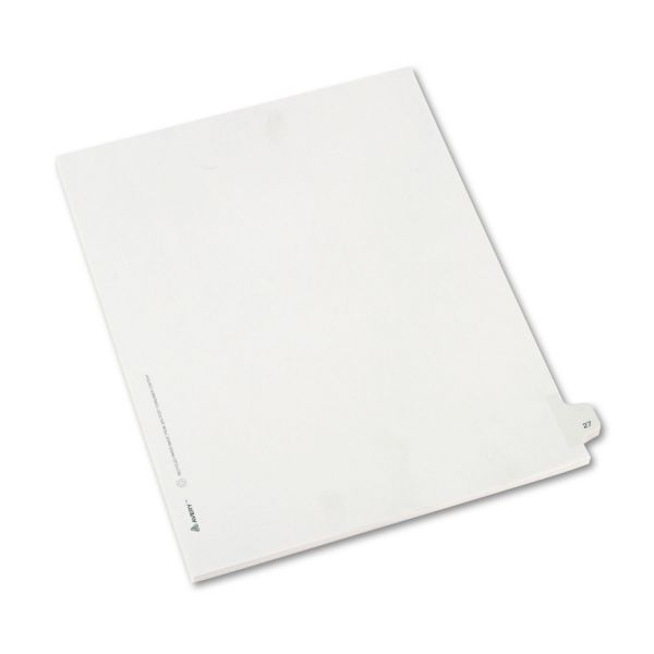 Avery Allstate-Style Legal Exhibit Side Tab Divider, Title: 27, Letter, White, 25/Pack