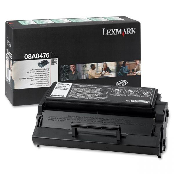 Lexmark 08A0476 Black Return Program Toner Cartridge