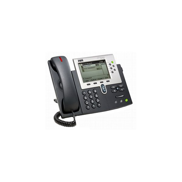 Ingram - Certified Pre-Owned 7961G= IP Phone - Refurbished - Silver