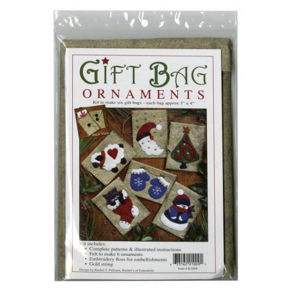 Gift Bags Ornament Kit 6/Pkg