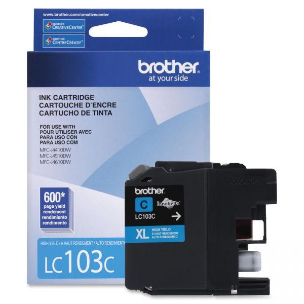 Brother LC103C Cyan High Yield Ink Cartridge